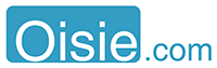 Oisie.com  logo  Rectangle. Inverted colors.